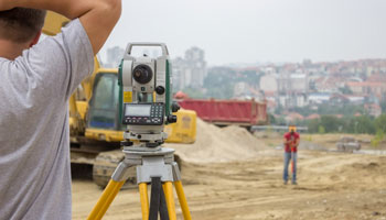land surveyor construction diggger city